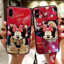 For iPhone X XS Max XR 8 7 plus Cute cartoon Disney Stand Holder soft phone case