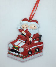 Personalised Chirstmas Ornament/Decoration - Mr & Mrs Claus in the Car