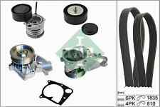 INA Water Pump + V-Ribbed Belt Kit 529011230 For BMW 320 E90 2 ltr