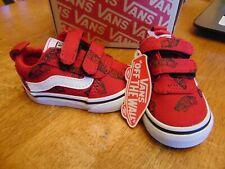 zapatillas vans niño rojas