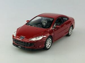 WELLY PEUGEOT 407 COUPE RED 1:34 DIE CAST METAL MODEL NEW IN BOX