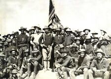 5x7 Photo 1898 Colonel Roosevelt and his Rough Riders-Battle of San Juan