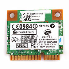 BCM943224HMS 802.11a/b/g/n PCI Express Half Mini Card only For HP Laptop Replace