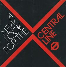 LONDON TRANSPORT CENTRAL LINE 1984 New Look Station Styles illustrated booklet