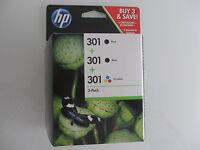 CH561EE HP ORIGINAL HP 301 2x Black + Color for DJ DESKJET 2000 2050 2510 3000 .