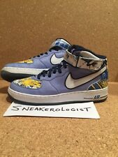 SAMPLE NIKE AIR FORCE 1 MID PREMIUM SZ 9 white blue 2004 royale michael vick #7