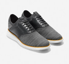 Men Cole Haan 2.ZERØGRAND Saddle Oxford Magnet-Knit Sunglow-White Shoes C25308