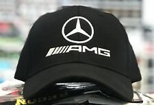 Mercedes-Benz AMG baseball Cap Hat, black. Adjustable size with embroidered logo