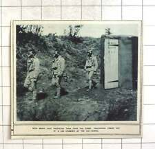 1917 Portuguese Coming Out Of Gas Chamber At Gas School, Masks