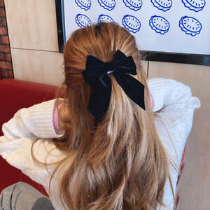 Big Bow Hairpins For Girl Barrette Hair Clip Ties Women Two-Layer Satin Hairgrip