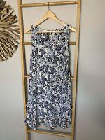 Target Size 10 Blue Dress Summer Beach Cotton Blend Tank