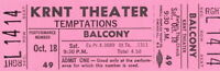 THE TEMPTATIONS 1969 CLOUD NINE TOUR UNUSED KRNT CONCERT TICKET / NM 2 MINT No.2