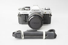 Canon AE-1 AE1 35mm SLR Film Camera, Silver w/ Canon New FD 28mm f2.8 Lens