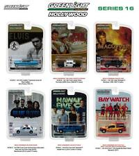 GREENLIGHT 44760 HOLLYWOOD SERIES 16, SET OF 6 DIECAST CARS 1:64 NEW!!