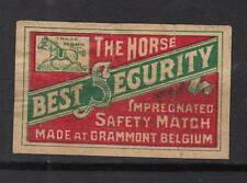 Ancienne étiquette   allumettes  Belgique A803 Cheval 2