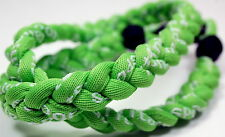 "NEW! BASEBALL Titanium Tornado Sport Necklace 20"" All Neon Green Lime Braid"