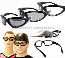TRANSITION Motorcycle Glasses Biker Sunglasses Wind Resistant Day Night
