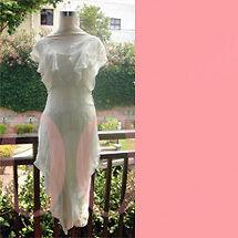 CHRISTIAN DIOR Butterfly Sleeve Chiffon Dress!US6/M
