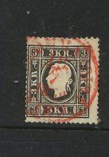 Austria 7 used nice red cancel catalog $240.00