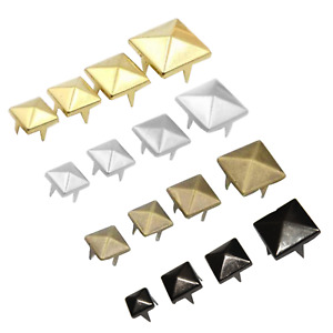 Claw Studs Rivets Pyramid Spike Square for Shoes Bags Costumes 50pcs 100pcs
