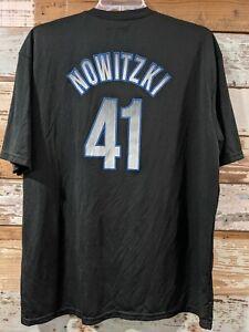 Nowitzki Shirt 2XL NBA Dallas Mavericks Vintage? #41 Black Basketball Dirk