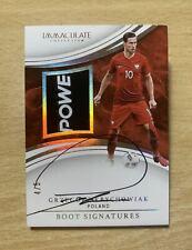 17/18 Panini Immaculate Soccer Grzegorz Krychowiak Poland Boot Signatures SP /5