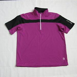 New Galvin Green BAY Windstopper Half Zip Shirt Racing Purple Black Size Large