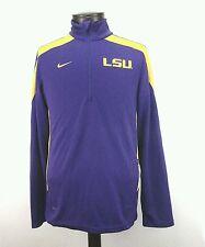 NIKE LSU Tigers Purple Yellow Light Athletic Track Jacket Men's Sz Small S NICE