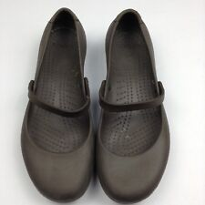 Crocs Womens Flats Brown Mary jane Slip On Shoes Size 10