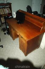 Vintage Antique 19th Century Hand-Made -Dovetailed Wood Danish Desk 54x28