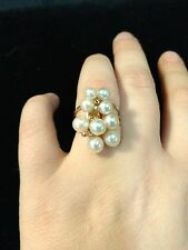 $150.00 14K GOLD AND PEARL RING SIZE 6 1/2  6.1 grams