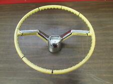 1958 OLDSMOBILE STEERING WHEEL ORIGINAL GM W/ HORN BUTTON & EMBLEM 418