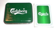 Malaysia Playing Cards Carlsberg Beer Tin Pack Sealed Mint Green 2004