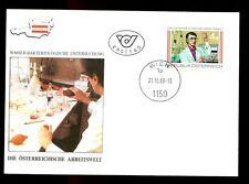 Austria 1988 mondiale nel lavoro FDC #C 2944