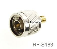 N-Type Male to RP-SMA Reverse Polarity Female RF Adapters, CablesOnline RF-S163