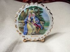 COLLECTABLE VINTAGE GILDED LIVERPOOL RD POTTERY CHINA POCKET VASE ROMANTIC SCENE
