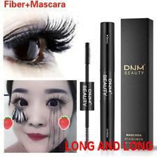 DNM 4D Fiber Eyelash Black Curling Mascara Waterproof Double Brush Eye Makeup