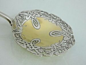 GORGEOUS ANTIQUE FRENCH SILVER BERRY SERVING PIECE VERY LARGE 19 century, France