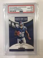 2018 SAQUON BARKLEY PSA 10 GEM PANINI CONTNEDERS ROOKIE OF THE YEAR RC GIANTS SB