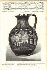 1882 Etruscan Art Cumean Domestic Painted Vase Husband Wife Slaves