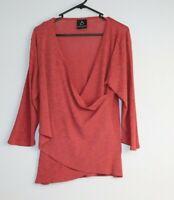 Black Apple Australia Women's 3/4 Sleeve Top Rust Pink Colour Size L