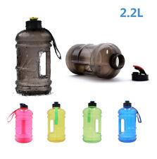 2.2L Large Sport Gym Training Water Bottle Camping Drink Cap Kettle BPA Du UK