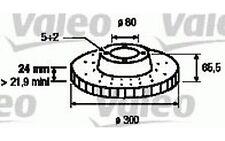 VALEO Disco de freno (x2) Antes 300mm ventilado CITROEN JUMPER PEUGEOT 197228