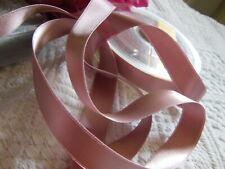 ruban satin luxe double face vieux rose foncé 3 m  sur 1,6 cm superbe qualité A6