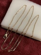 18 Inches 10 Kt Skinny yellow gold cuban link 1.9 Grams chain
