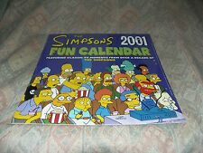 SIMPSONS 2001 SEALED NEW CALENDAR (OLD STOCK)