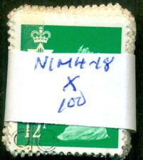 Great Britain Sg-Ni35, Scott # Nimh-18, Used, 100 Stamps, Great Price!