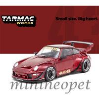 TARMAC WORKS T43-014-BF PORSCHE 911 993 RWB RAUH WELT BEGRIFF 1/43 FIREBIRD RED