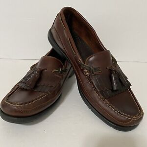 SPERRY TOP-SIDER Men's 0717157 Tremont Boat Kiltie Brown Leather Loafers Size 11