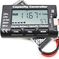 Eg _ _ Numérique Batterie Capacité Voltage Checker Cellule Testeur Mètre pour